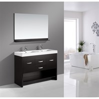 "Design Element Designer's Pick 48"" Double Bathroom Vanity Set - Espresso DEC074"