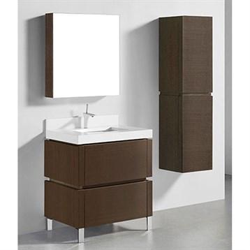 "Madeli Metro 30"" Bathroom Vanity for Quartzstone Top, Walnut B600-30-001-WA-QUARTZ by Madeli"