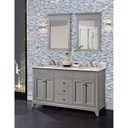 "Fairmont Designs Smithfield 60"" Double Bowl Vanity - Medium Gray 1504-V6021D"