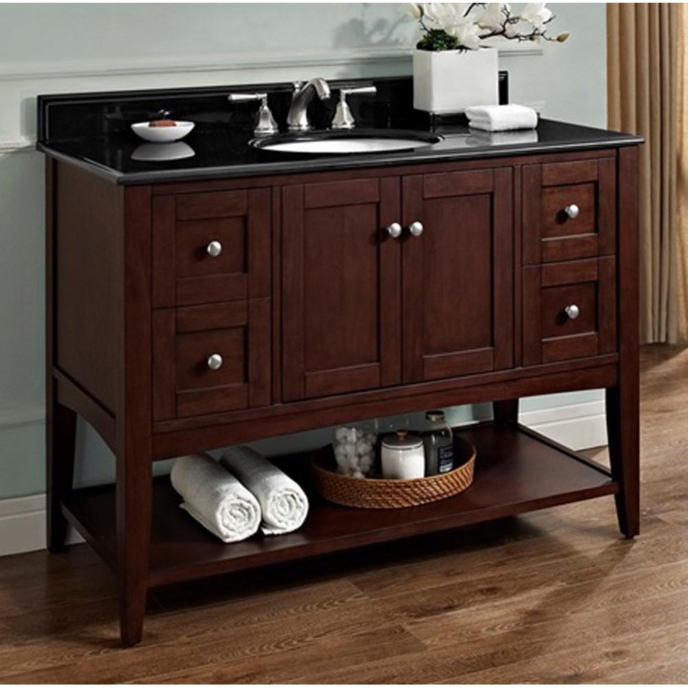 "Fairmont Designs Shaker Americana 48"" Vanity - Open Shelf - Habana Cherrynohtin Sale $1415.00 SKU: 1513-VH48_ :"