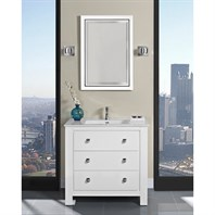 "Fairmont Designs Uptown 36"" Vanity for Integrated Sinktop - Glossy White 1520-V36-"