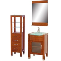 "Daytona 24"" Bathroom Vanity Set - Cherry A-W2109-24-CH-SET"