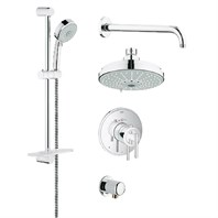 Grohe Atrio Grohflex Bath and Shower Set with Thermostat Valve - Starlight Chrome GRO 35056000