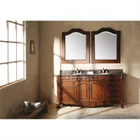 "James Martin 72"" St. James Double Granite Top Vanity - Cherry 206-001-5522"