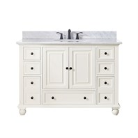 "Avanity Thompson 48"" Single Bathroom Vanity - French White THOMPSON-48-FW"