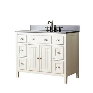 Avanity hamilton 42 single bathroom vanity french white free shipping modern bathroom for Bathroom vanities hamilton