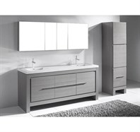 "Madeli Vicenza 72"" Double Bathroom Vanity For X-Stone - Ash Grey B999-72-001-AG-XSTONE"