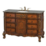 "Colby 50"" Traditional Bathroom Vanity with Drawers - Burl H10000-D-50-BURL"