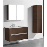 "Madeli Urban 42"" Bathroom Vanity for Quartzstone Top - Walnut B300-42-002-WA-QUARTZ"