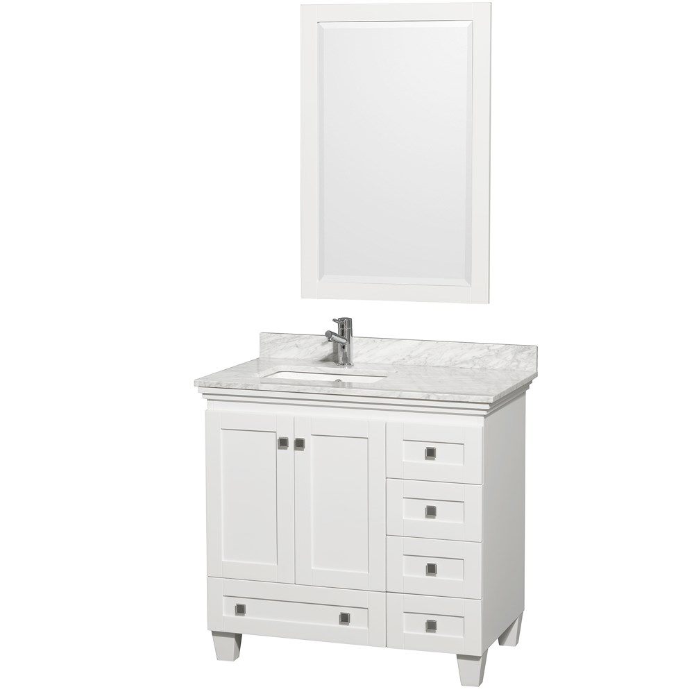 Acclaim 36 in. Single Bathroom Vanity by Wyndham Collection - White WC-CG8000-36-SGL-VAN-WHT-