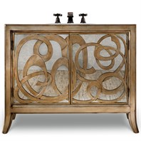"Cole & Co. 44"" Designer Series Isabella Sink Chest - Burnished Matte Gold Leaf 11.22.275544.55"