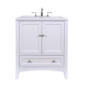 "Stufurhome 30.5"" Laundry Utility Sink Vanity, Pure White GM-Y01W by Stufurhome"
