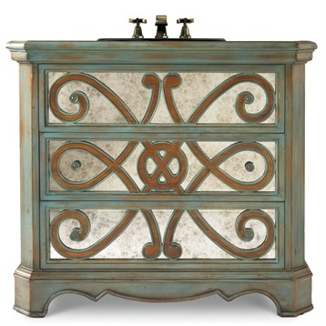 "Cole & Co. 36"" Designer Series Sophia Hall Chest - Soft And Subtle Sage"