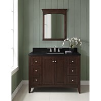 "Fairmont Designs Shaker Americana 48"" Vanity for 1-1/4"" Thick Top - Habana Cherry 1513-V48"