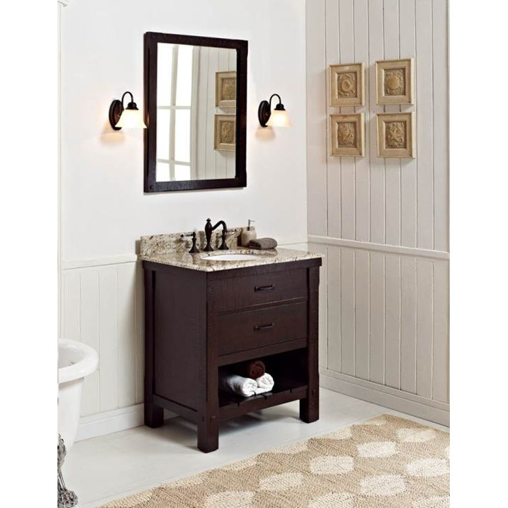 "Fairmont Designs 30"" Napa Open Shelf Vanity - Aged Cabernetnohtin"