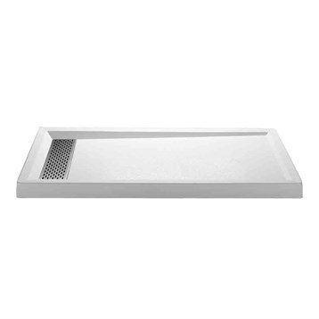 "MTI MTSB-6032MTHD Multi-Threshold Shower Base, Hidden Drain, 60"" x 32"" MTSB-6032MTHD by MTI"
