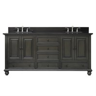 "Avanity Thompson 72"" Double Bathroom Vanity - Charcoal Glaze THOMPSON-72-CL"