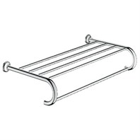 Grohe Essentials Authentic Towel Holder and Shelf - Chrome GRO 40660000