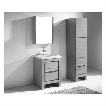 "Madeli Vicenza 24"" Bathroom Vanity For X-Stone, Ash Grey B999-24-001-AG-XSTONE by Madeli"