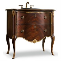 "Cole & Co. 36"" Designer Series Carolee Hall Chest - Swirl Mahogany and Cherry Veneers 11.22.275536.12"
