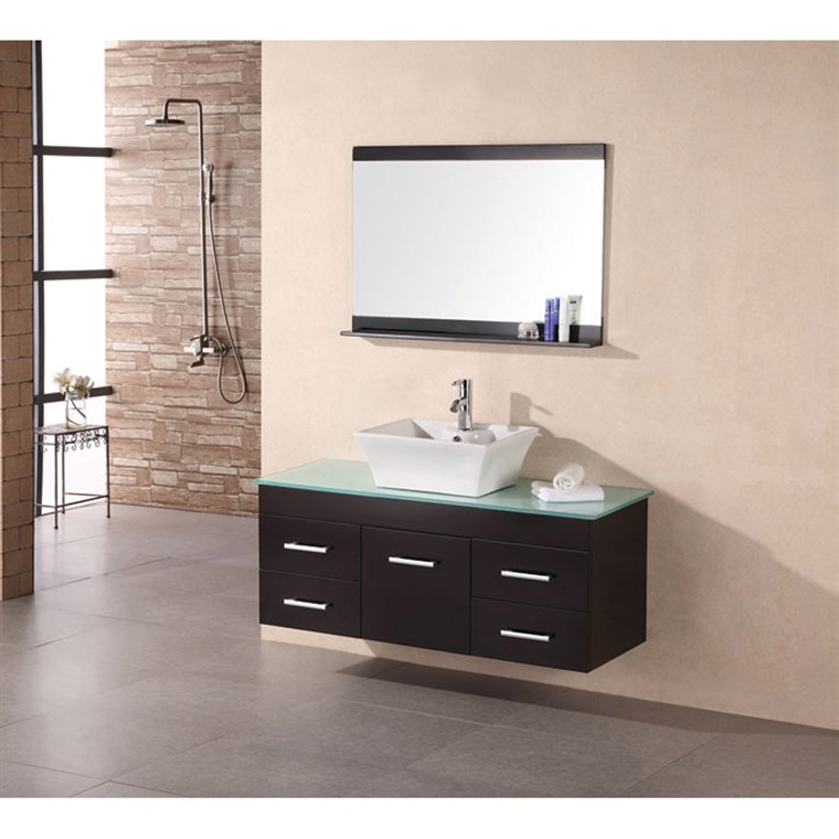 "Design Element Madrid 48"" Single Sink Vanity Set - Espresso DEC1100A-48"