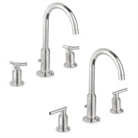 Grohe Atrio High Spout Lavatory Wideset - Infinity Brushed Nickel