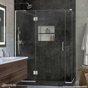 Bath Authority DreamLine UniDoor-X 57 - 60 in. W x 30-3/8 - 34-3/8 in. D x 72 in. H Hinged Shower Enclosure E3270630