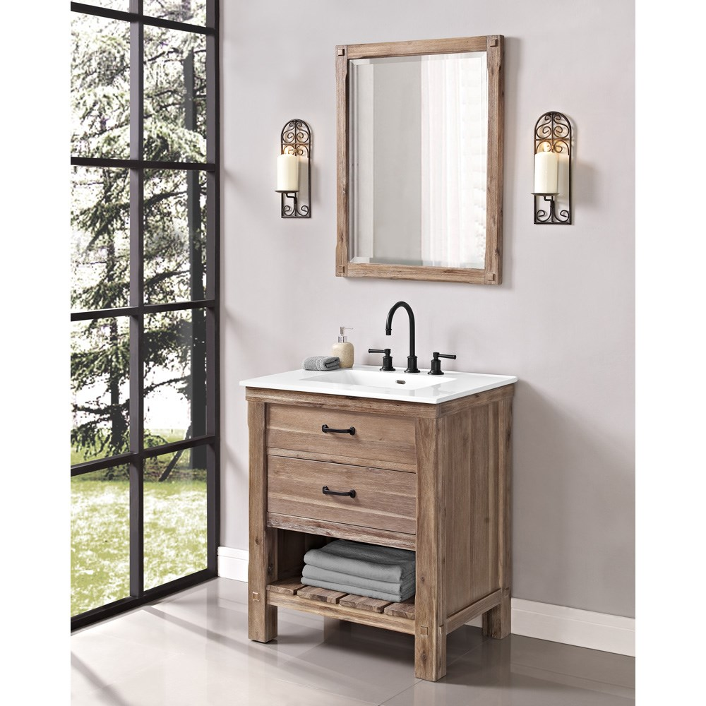 "Fairmont Designs Napa 30"" Open Shelf Vanity for Integrated Sinktop - Sonoma Sandnohtin Sale $1015.00 SKU: 1507-VH30- :"