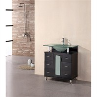 "Design Element Cascade 30"" Single Bathroom Vanity - Espresso DEC015A"