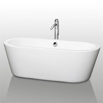 """Mermaid 67"""" Soaking Bathtub by Wyndham Collection WC-BT1003-67 by Wyndham Collection®"""