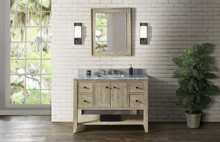 "Fairmont Designs River View 48"" Open Shelf Vanity - Toasted Almond 1515-VH48"