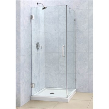 """Bath Authority DreamLine Radiance Frameless Hinged Shower Enclosure, 30"""" by 30"""" SHEN-2330300 by Bath Authority DreamLine"""