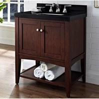 "Fairmont Designs Shaker Americana 30"" Vanity For Quartz Top - Open Shelf - Habana Cherry 1513-VH30"
