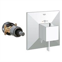 Grohe GrohFlex Allure Brilliant Single Function Thermostatic Trim with Control Module - Starlight Chrome GRO 19793000