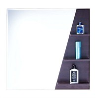 "ZHJ47 Bathroom Mirror with Shelves (30"" x 32"")"