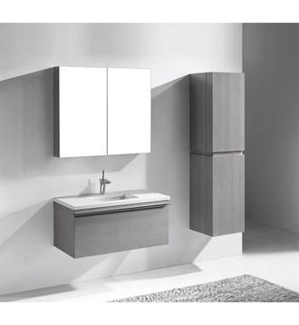 "Madeli Venasca 36"" Bathroom Vanity for Quartzstone Top, Ash Grey B990-36-002-AG-QUARTZ by Madeli"