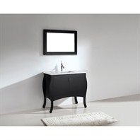 "Madeli Sorrento 39"" Bathroom Vanity with Quartzstone Top - Espresso Sorrento-39-EX-Quartz"