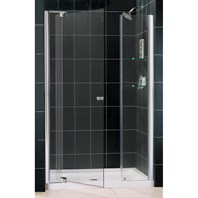 "Bath Authority DreamLine Allure Frameless Pivot Shower Door and SlimLine Single Threshold Shower Base (36"" by 48"") DL-6431C-01CL"