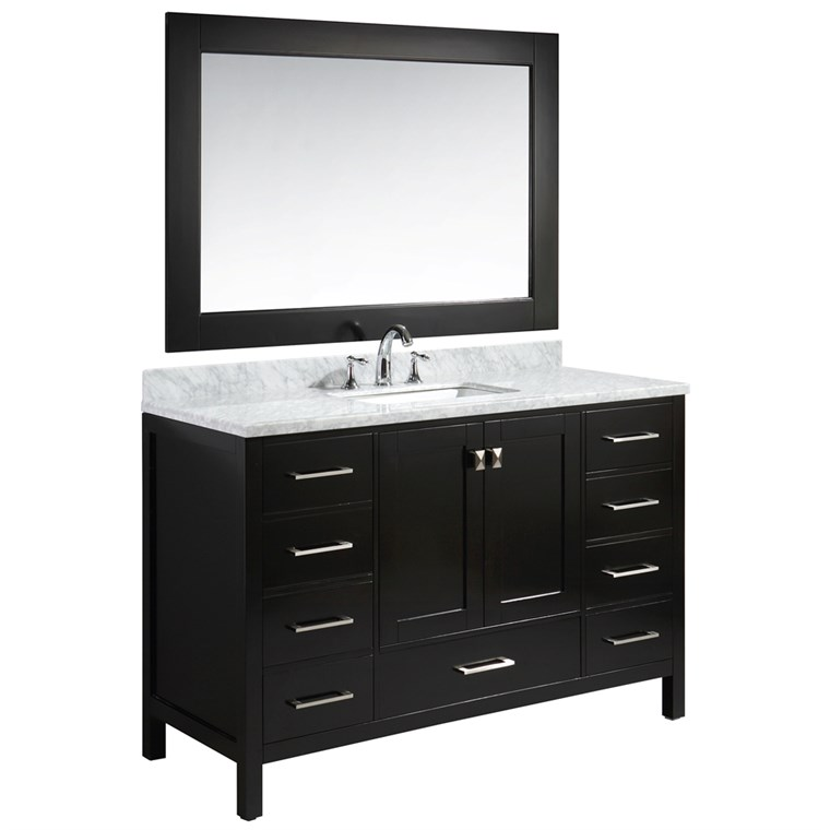 "Design Element London Hyde 54"" Single Sink Vanity Set - Espresso DEC082D-E"