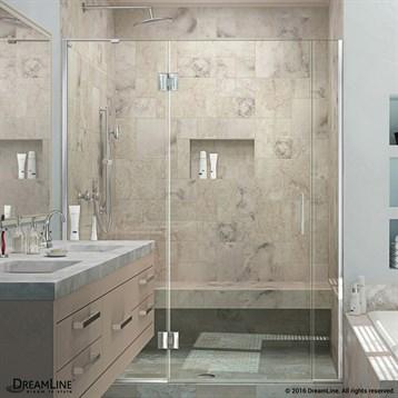 Bath Authority DreamLine UniDoor-X 61, 68-1/2 in. W x 72 in. H Hinged Shower Door D3231472 by Bath Authority DreamLine