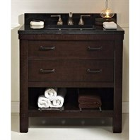 "Fairmont Designs 36"" Napa Open Shelf Vanity - Aged Cabernet 1506-VH36"