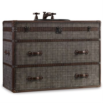 """Cole & Co. 46"""" Designer Series Sutherland Travel Chest, Weathered Grey 11.22.275546.68 by Cole & Co."""