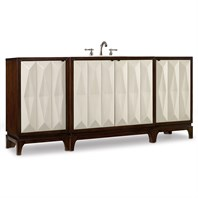 "Cole & Co. 78"" Designer Series Slaton Vanity Chest - Deep Chestnut 11.22.275578.27"