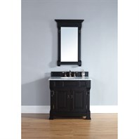 "James Martin 35"" Brookfield Single Cabinet Vanity - Antique Black 147-114-5531"