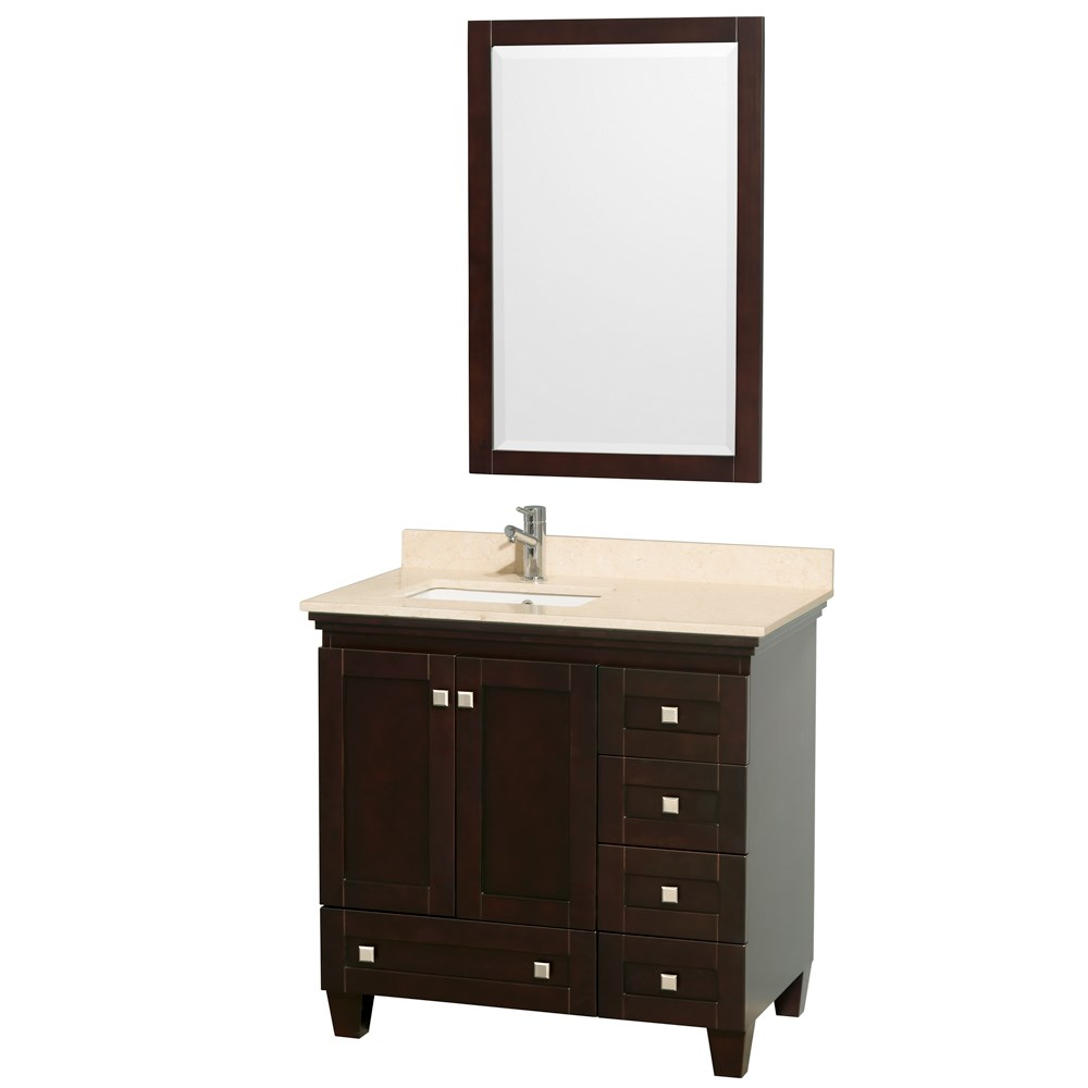 Acclaim 36 inch Single Bathroom Vanity by Wyndham Collection Espresso