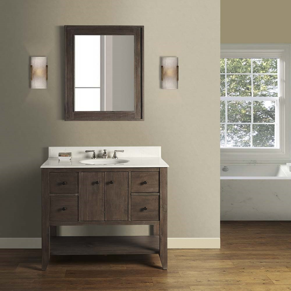 "Fairmont Designs River View 42"" Open Shelf Vanity for Undermount Oval - Coffee Bean 1516-VH42_"
