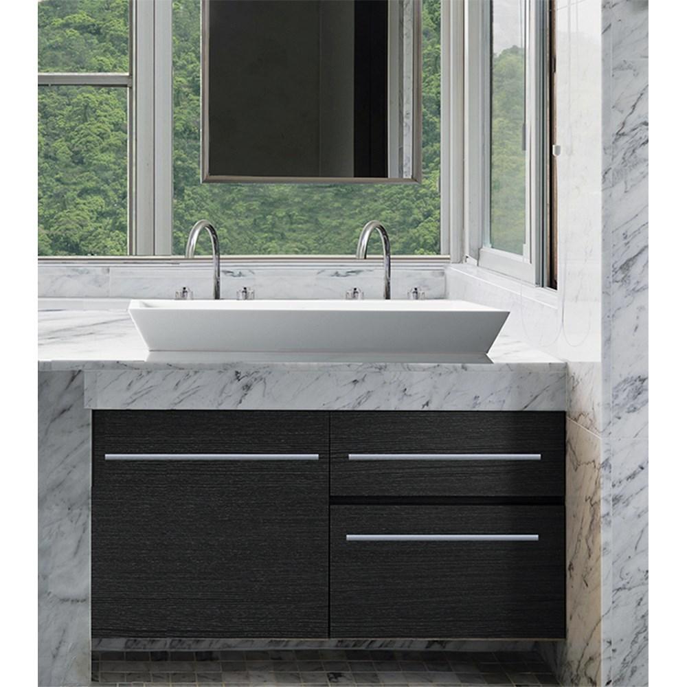 MTI Petra 6 Dual Drain Lavatory | Free Shipping - Modern Bathroom