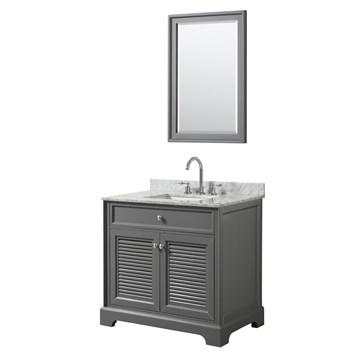 Tamara 36 Single Bathroom Vanity by Wyndham Collection - Dark Gray