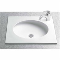 "TOTO Curva Self-Rimming Lavatory with Single Faucet Hole, 22"" x 19"" LT182"