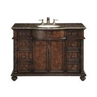 antique bathroom vanities. Stufurhome 48 quot  Amelia Single Sink Vanity with Baltic Brown Granite Top Dark GM Shop Antique Bathroom Vintage Rustic Vanities Modern